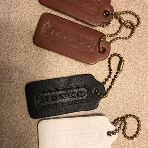 Coach lot of 4 Tags Key Fobs Chains